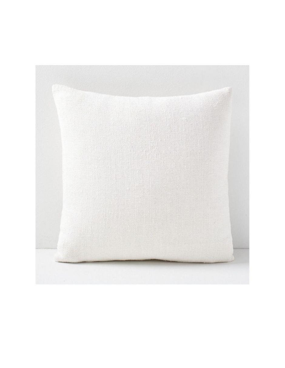 Funda para Cojín Silk Hand-Loomed Blanco