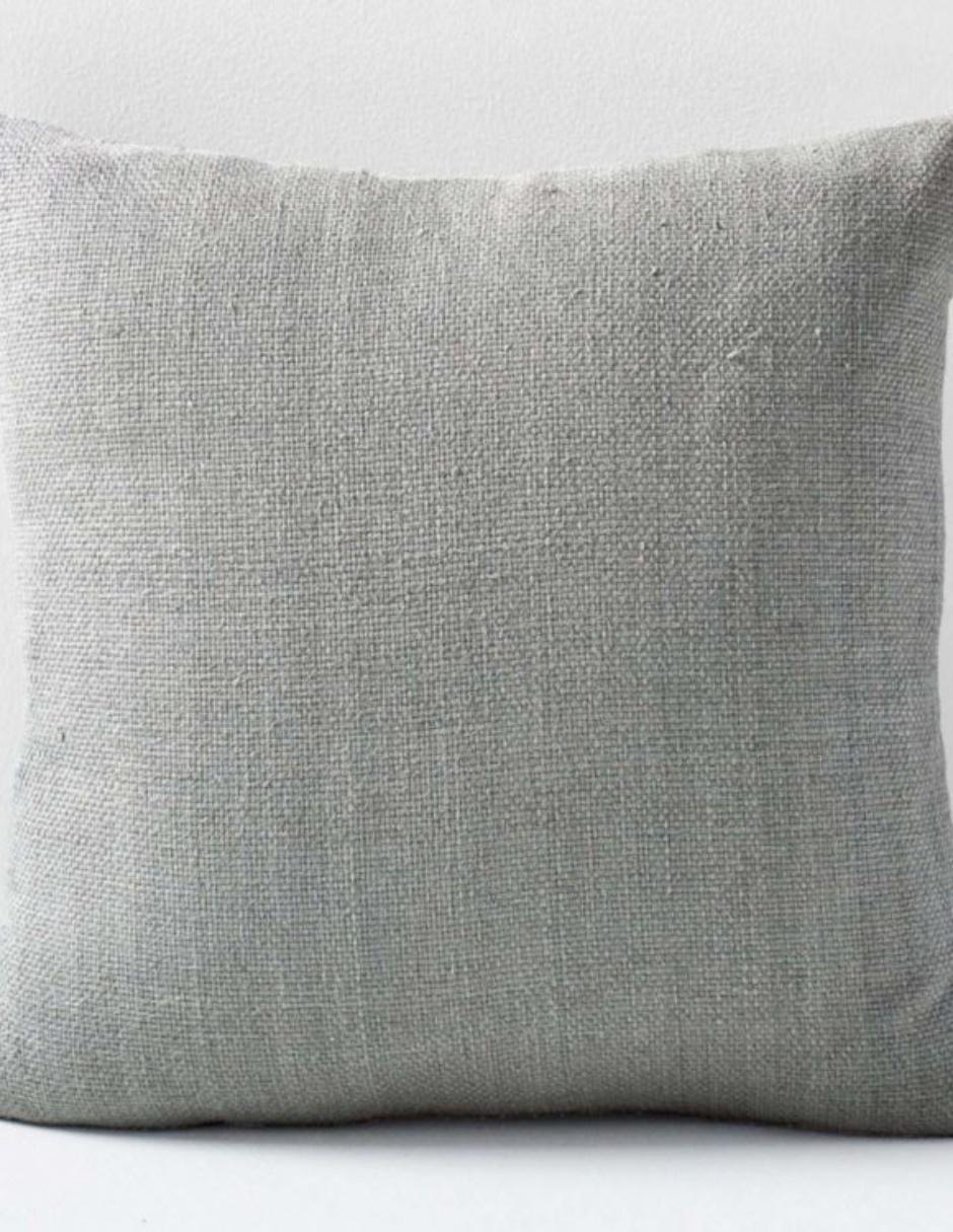 Funda para Cojín Silk Hand-Loomed Gris Claro