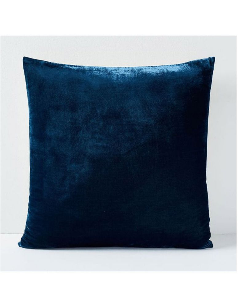 Funda para Cojín Lush Velvet Azul Marino