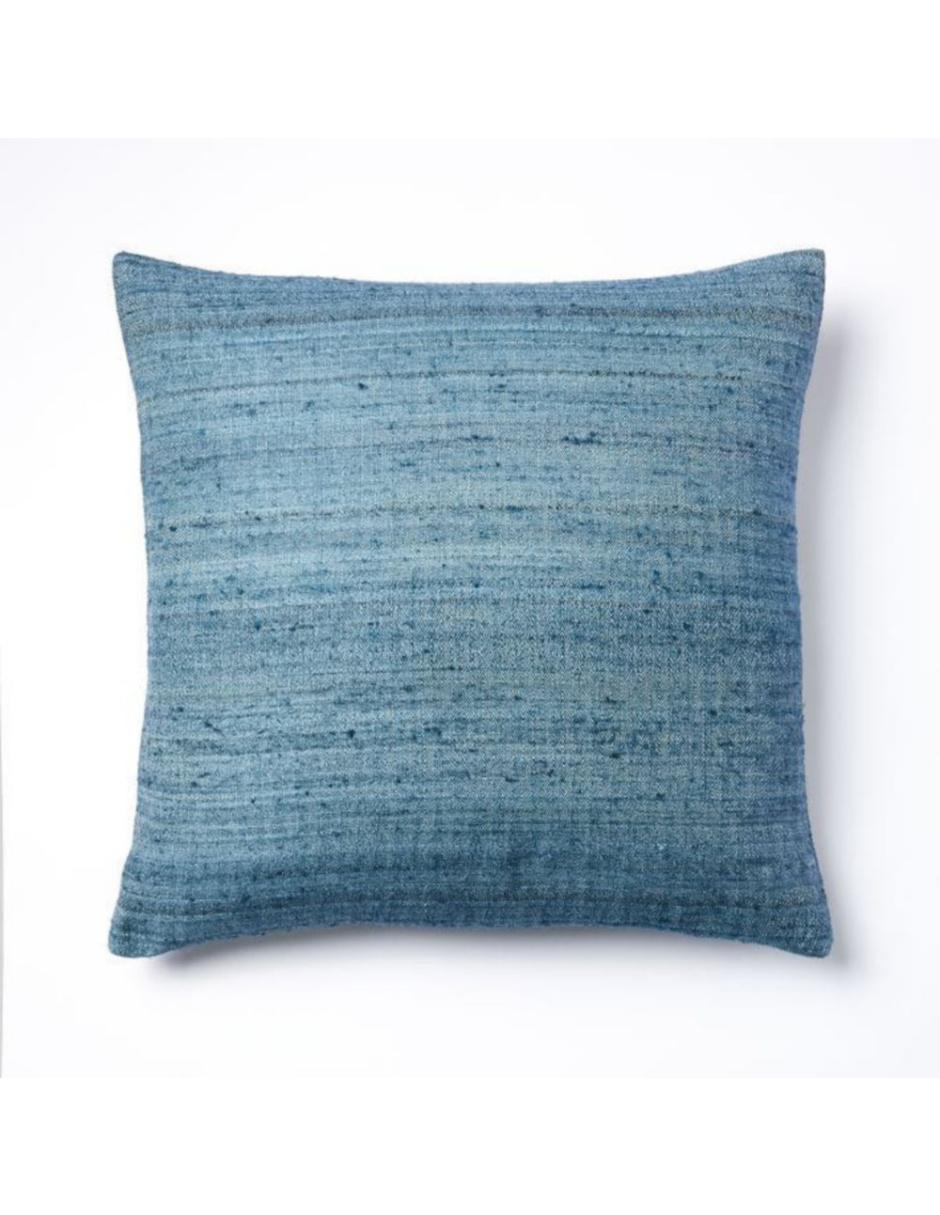 Funda para Cojín Woven Silk Azul
