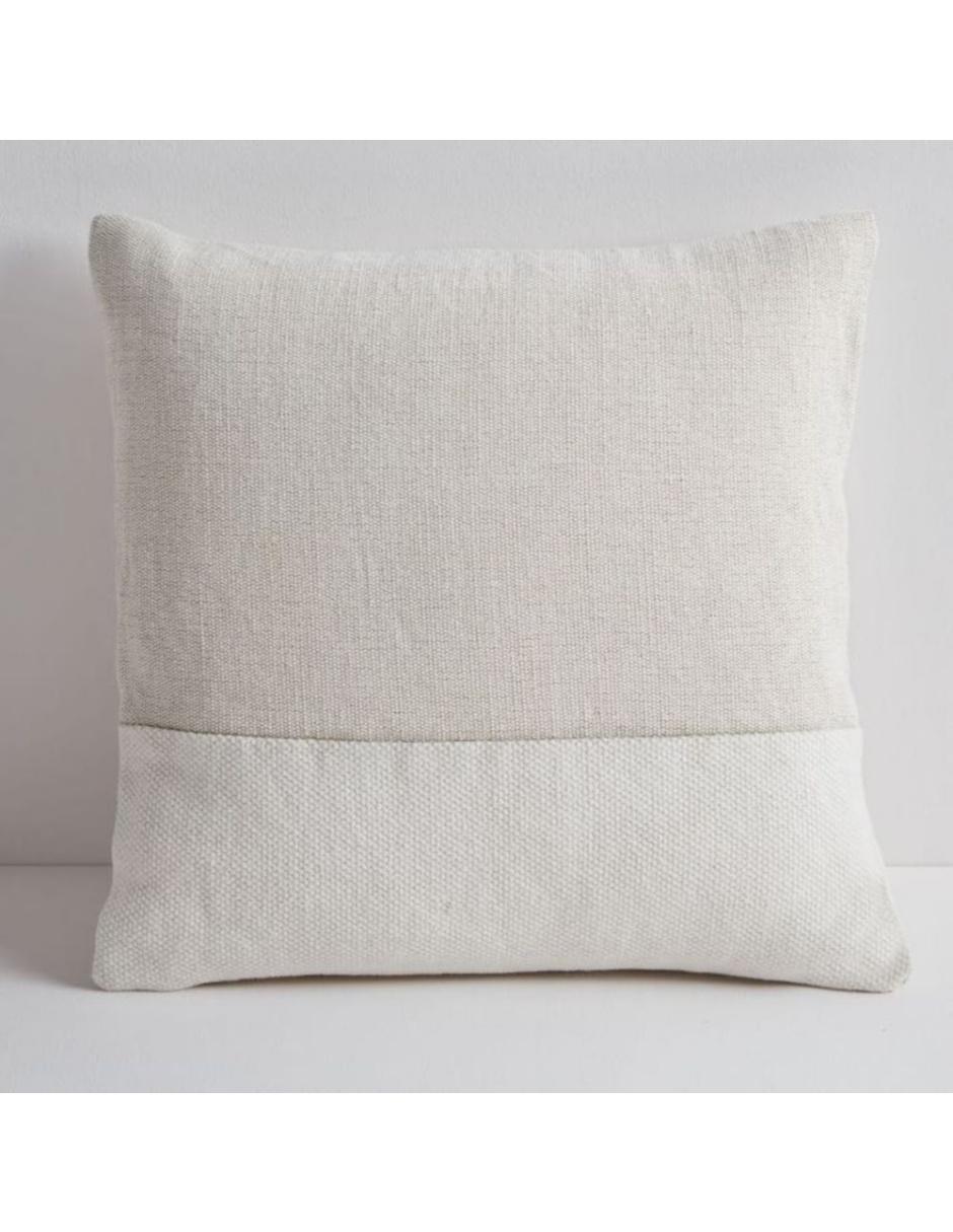 Funda para Cojín Pieced Cotton Canvas