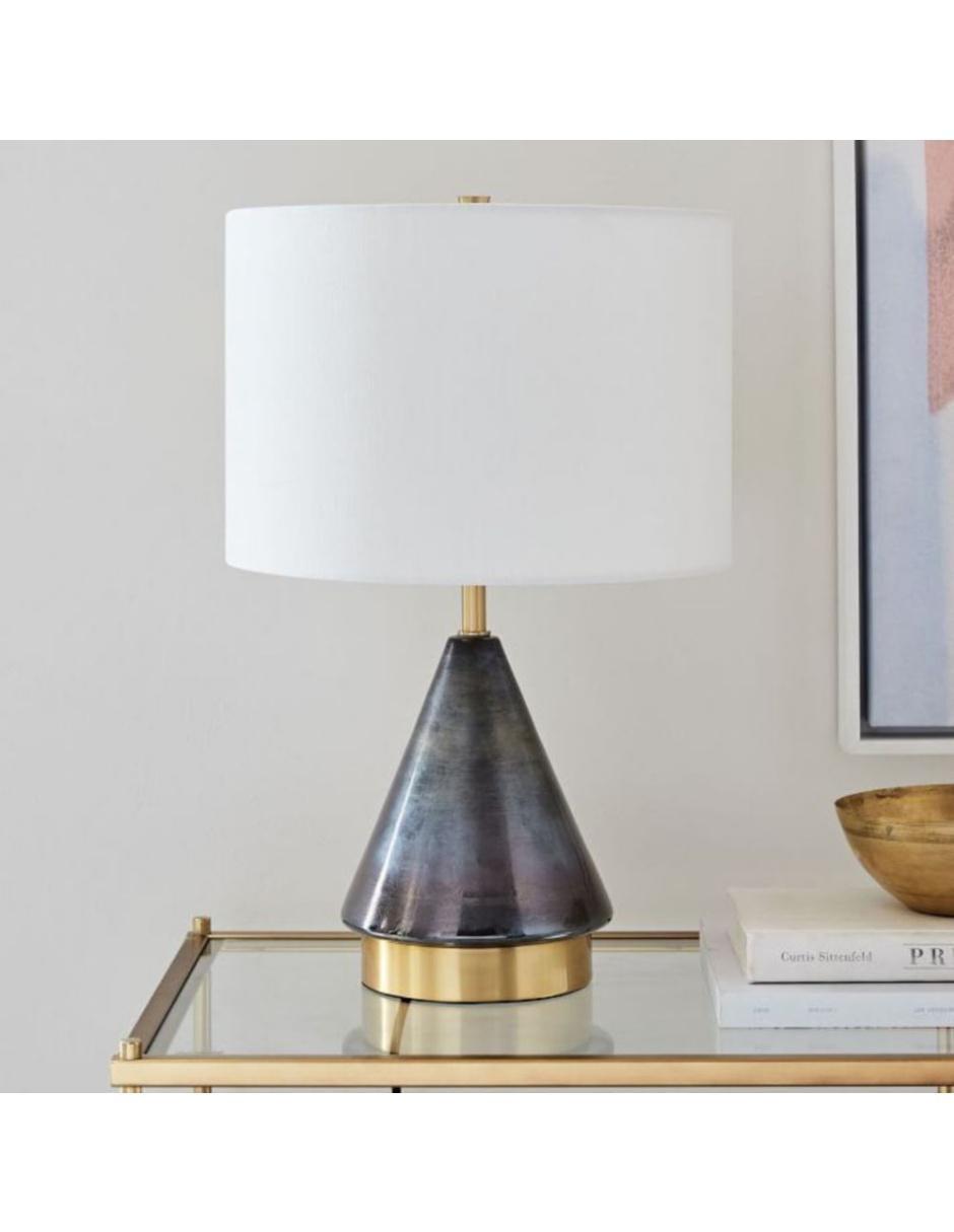 Lámpara de Mesa Metalized Glass Gris