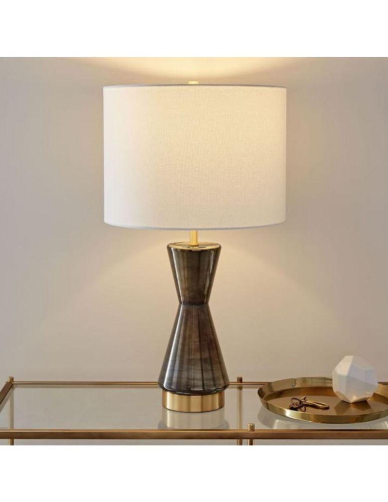 Lámpara de Mesa Metalized Glass con USB Gris